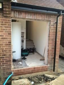 Side hinged garage doors installed by Byron Doors in Finchley, London.