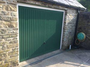 Byron Doors installation of an Up and Over garage door in Mansfield.